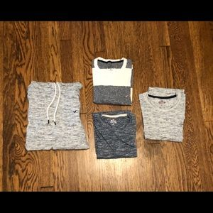 Hollister - four pack hoodie and T-shirts